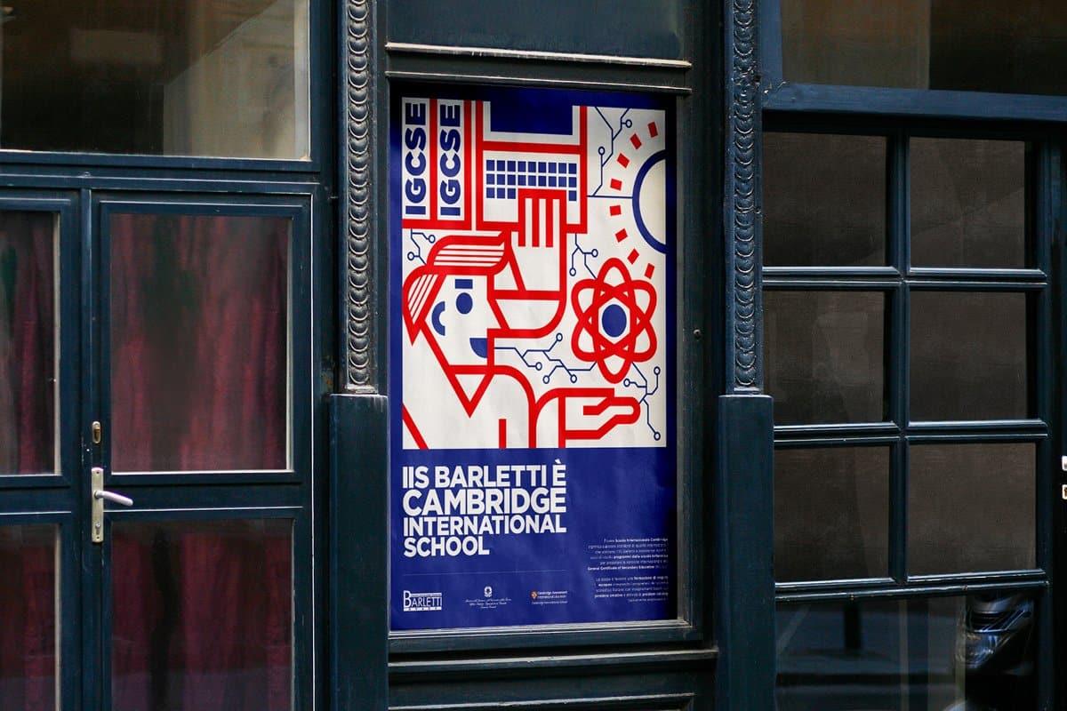 Poster corso scolastico di inglese per il liceo Barletti di Ovada