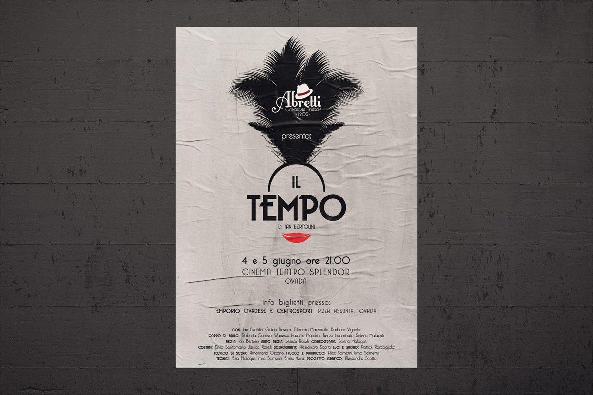 """Poster teatrale """"Il tempo"""""""