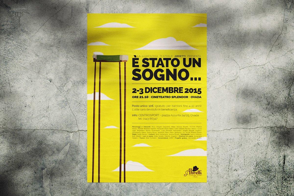 """Poster teatrale """"È stato un sogno…"""""""