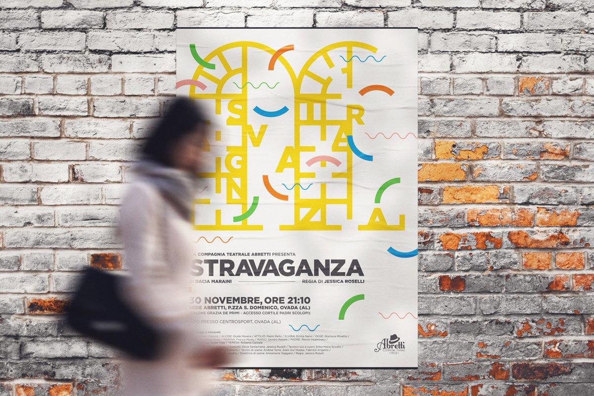 "Poster teatrale ""Stravaganza"""
