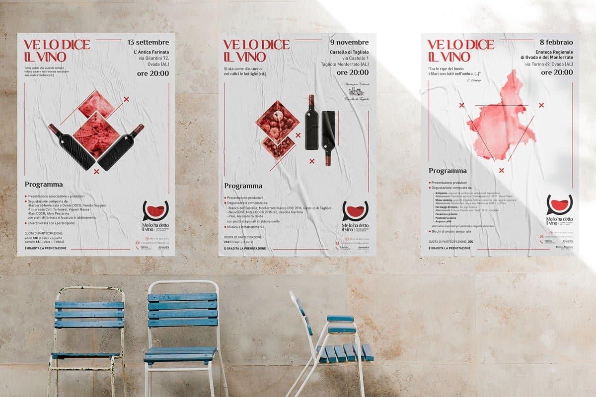"""Serie poster """"Ve lo dice il vino"""""""