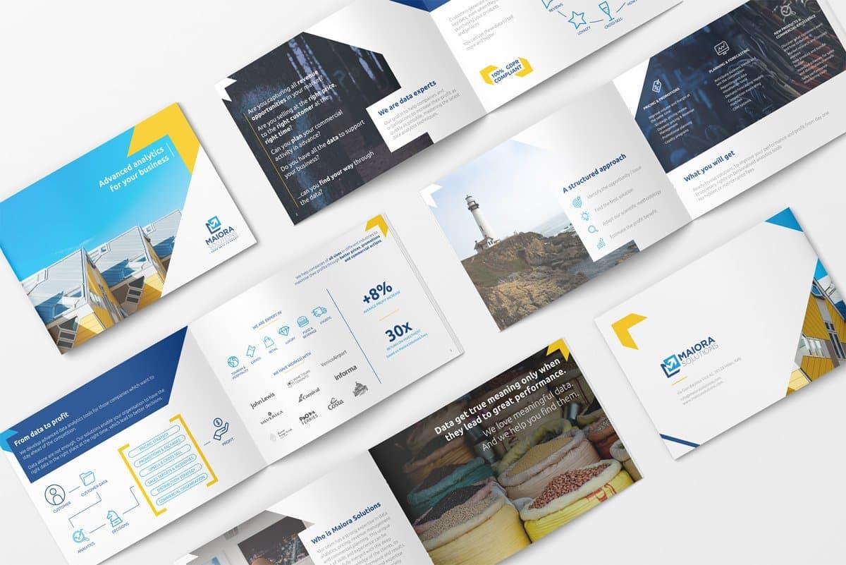 Brochure A5 per società di consulenza pricing