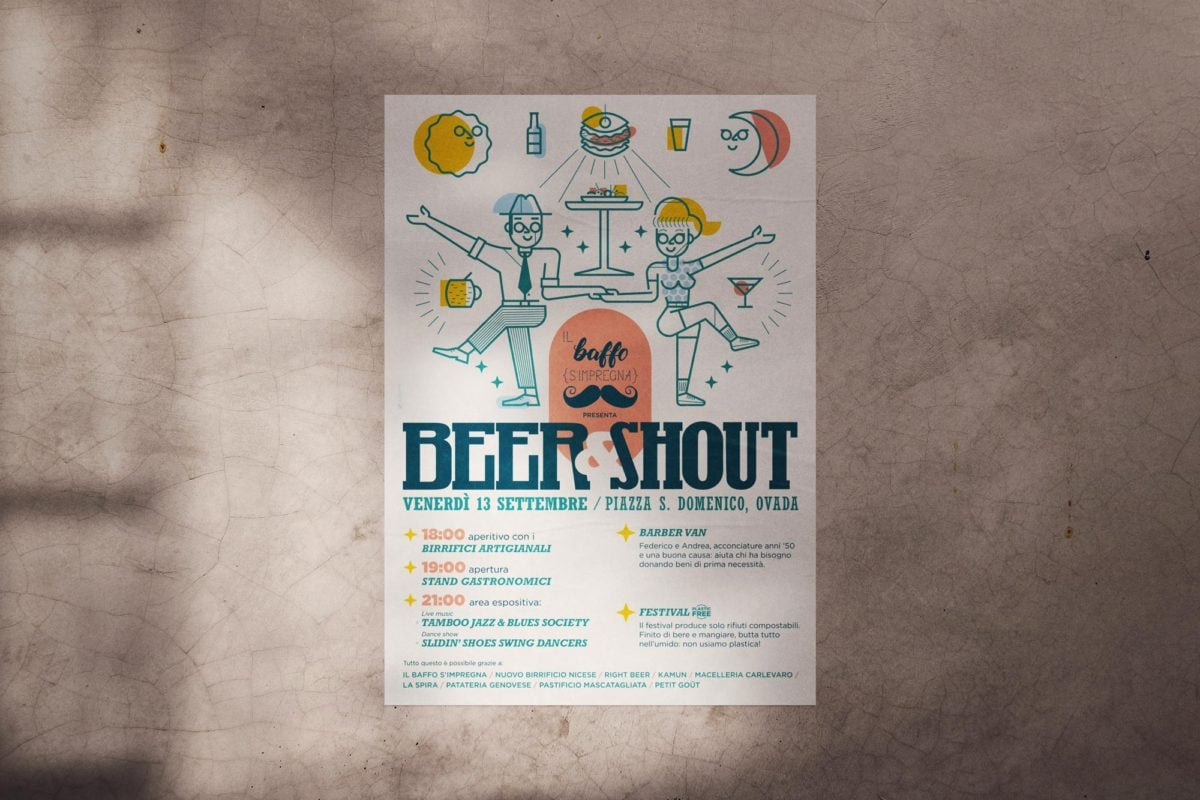 Poster per evento Beer & Shout