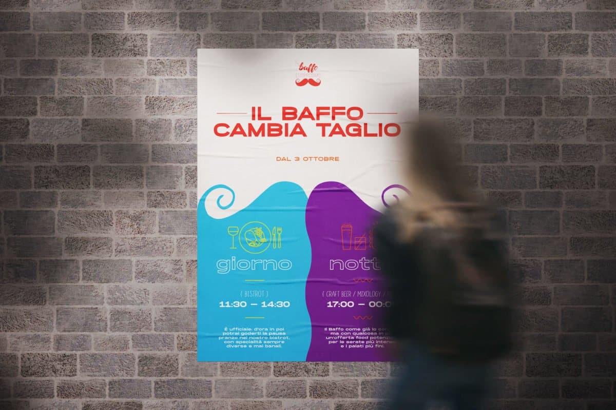 Poster per il cambio di immagine di Il Baffo s'impregna